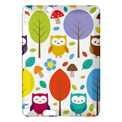 Cute Owl Kindle Fire Hdx Hardshell Case by Nexatart