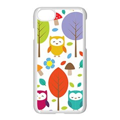 Cute Owl Apple Iphone 7 Seamless Case (white) by Nexatart
