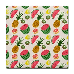 Fruits Pattern Tile Coasters by Nexatart