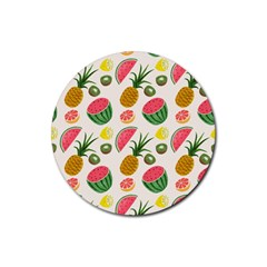 Fruits Pattern Rubber Round Coaster (4 Pack)
