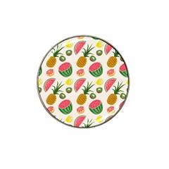 Fruits Pattern Hat Clip Ball Marker (4 Pack) by Nexatart