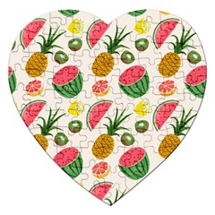 Fruits Pattern Jigsaw Puzzle (heart)
