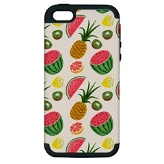 Fruits Pattern Apple Iphone 5 Hardshell Case (pc+silicone) by Nexatart