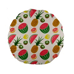 Fruits Pattern Standard 15  Premium Round Cushions