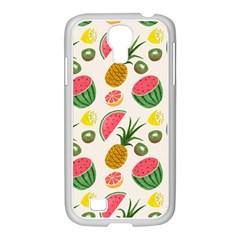 Fruits Pattern Samsung Galaxy S4 I9500/ I9505 Case (white)