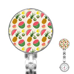 Fruits Pattern Stainless Steel Nurses Watch by Nexatart