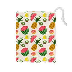 Fruits Pattern Drawstring Pouches (large)