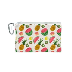 Fruits Pattern Canvas Cosmetic Bag (s) by Nexatart