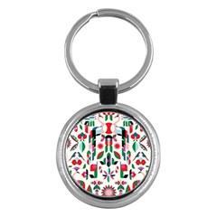 Abstract Peacock Key Chains (round)  by Nexatart