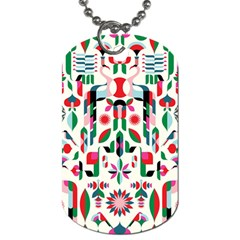 Abstract Peacock Dog Tag (two Sides) by Nexatart