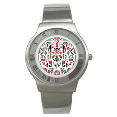 Abstract Peacock Stainless Steel Watch by Nexatart