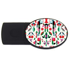Abstract Peacock Usb Flash Drive Oval (4 Gb)