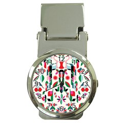 Abstract Peacock Money Clip Watches by Nexatart