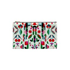 Abstract Peacock Cosmetic Bag (small)