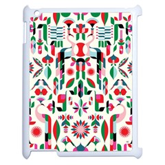 Abstract Peacock Apple Ipad 2 Case (white) by Nexatart