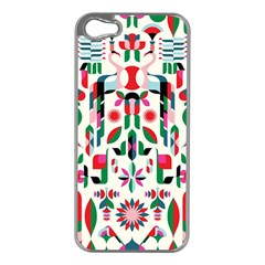 Abstract Peacock Apple Iphone 5 Case (silver)