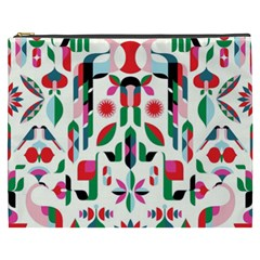 Abstract Peacock Cosmetic Bag (xxxl)  by Nexatart