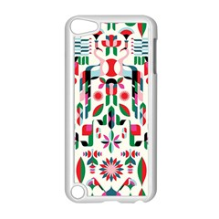 Abstract Peacock Apple Ipod Touch 5 Case (white) by Nexatart
