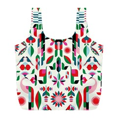 Abstract Peacock Full Print Recycle Bags (l)  by Nexatart