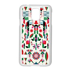 Abstract Peacock Samsung Galaxy S5 Case (white)