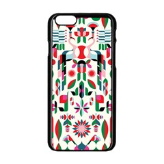 Abstract Peacock Apple Iphone 6/6s Black Enamel Case by Nexatart