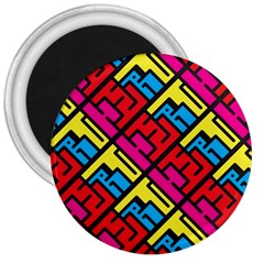 Hert Graffiti Pattern 3  Magnets by Nexatart