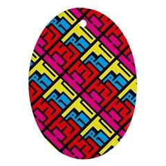 Hert Graffiti Pattern Ornament (oval)