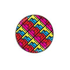 Hert Graffiti Pattern Hat Clip Ball Marker (4 Pack) by Nexatart
