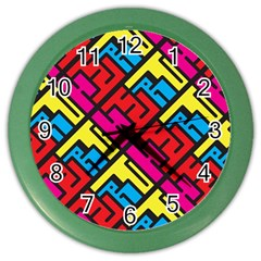 Hert Graffiti Pattern Color Wall Clocks