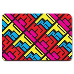 Hert Graffiti Pattern Large Doormat