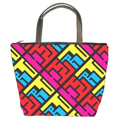 Hert Graffiti Pattern Bucket Bags
