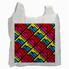 Hert Graffiti Pattern Recycle Bag (one Side)