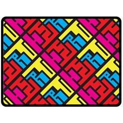 Hert Graffiti Pattern Fleece Blanket (large)  by Nexatart