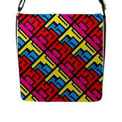 Hert Graffiti Pattern Flap Messenger Bag (l)  by Nexatart