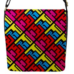 Hert Graffiti Pattern Flap Messenger Bag (s) by Nexatart