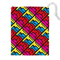 Hert Graffiti Pattern Drawstring Pouches (xxl) by Nexatart