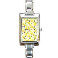 Lemons Pattern Rectangle Italian Charm Watch