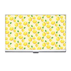 Lemons Pattern Business Card Holders