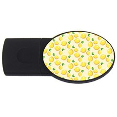 Lemons Pattern Usb Flash Drive Oval (4 Gb)