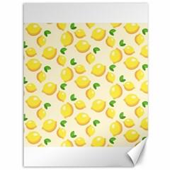 Lemons Pattern Canvas 36  X 48   by Nexatart