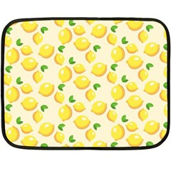Lemons Pattern Double Sided Fleece Blanket (mini)