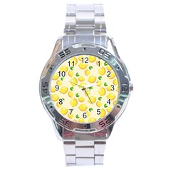 Lemons Pattern Stainless Steel Analogue Watch