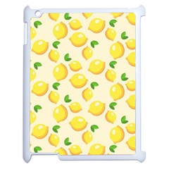 Lemons Pattern Apple Ipad 2 Case (white) by Nexatart