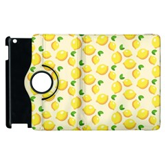 Lemons Pattern Apple Ipad 2 Flip 360 Case by Nexatart