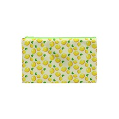 Lemons Pattern Cosmetic Bag (xs)