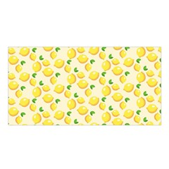 Lemons Pattern Satin Shawl by Nexatart