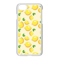 Lemons Pattern Apple Iphone 7 Seamless Case (white) by Nexatart