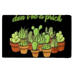 Cactus   Dont Be A Prick Apple Ipad 3/4 Flip Case by Valentinaart