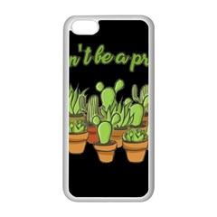 Cactus   Dont Be A Prick Apple Iphone 5c Seamless Case (white) by Valentinaart