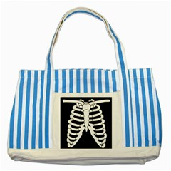 X Ray Striped Blue Tote Bag by Valentinaart